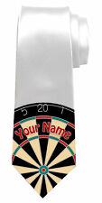 DARTBOARD PERSONALISED NECK TIE *ANY NAME/TEXT COLOUR *GREAT MEN'S GIFT/PRESENT*