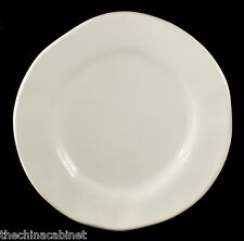 "CRATE & BARREL RUSTIC WHITE ITALY -- (6) 7"" BREAD PLATES PLATE SET"
