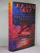 1st HB,signed by author, Rampart Worlds 3: Sagittarius Whorl by Julian May(2001)