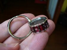 (M-314-B) RED black white or blue SNARE DRUM drums KEYCHAIN ring Jewelry key