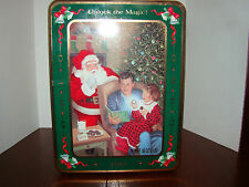 """Oreo Christmas Tin - 1993 - Empty  """"Tinsel and Time"""" - Used"""