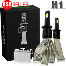 2pcs High Power H1 Headlight High Beam Bulbs 100W White 6000K COB LED fog Light