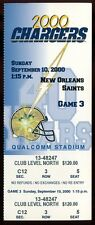 Football Ticket San Diego Chargers 2000 - 9/10 - New Orleans Saints Full
