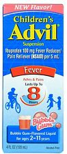 Advil Ibuprofen Fever Reducer/Pain Reliever Oral Suspension, Bubble Gum 4 oz 4pk