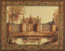 WALL TAPESTRY French Chambord Castle EUROPEAN GOLDEN DECOR - MEDIEVAL PICTURE