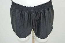 SHORT DE COURSE GAY NYLON VINTAGE RETRO S NOIR