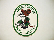 Vintage NOS Speedy Gonzales Rides Skiroule Decal