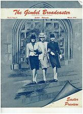 Vintage March 1945  issue of Gimbels Broadcaster Employees Magazine Easter Cover