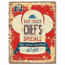 PP0818 CHEF'S SPECIALS Parking Plate Chic Sign Home Cafe Restaurant Decor Gift