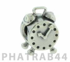 Authentic Retired Pandora Sterling Silver Clock Charm 790449