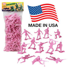 TimMee Processed Plastic Army Men: 100 PINK Platoon Tim Mee Toy Soldier Figures