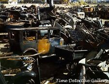 Vintage Cars in Scrap / Junk Yard, Butte, MT, WWII - 1942 - Historic Photo Print