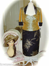 NWT Ispirato IK976 20, Gold/Black & Snoxell Hat for Weddings Races RRP £925