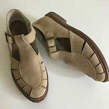 Timberland Brown Tan Leather Fisherman Sandals Buckle Shoes Women's Size 9 M