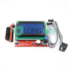 12864 Display LCD 3D Printer Controller +Adapter For RAMPS 1.4 Reprap Mendel