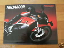 HAP-112 KAWASAKI BROCHURE NINJA 600R PROSPEKT,ENGLISH 12 PAGES FOLDER,MOTO