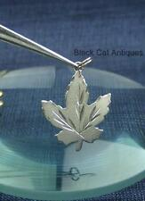 Original Vintage Maple Leaf Sterling Silver Charm Pretty Design
