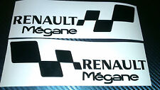 2x RENAULT MEGANE Set Car/Window  Vinyl Decal Stickers (pair for left and right)