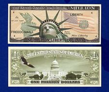 1-STATUE OF LIBERTY   Dollar Bill  clear protector sleeve-Novelty - FAKE- D