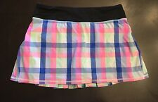 EUC LULULEMON Pace Setter Skirt Check Plaid RARE Discontinued Style Sz 6
