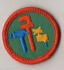 Junior Girl Scouts Ms Fix It ~1980 WTE Badge Patch with Orange Border