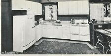 1952 GE GENERAL ELECTRIC Kitchen Laundry Appliances EAMES CHAIRS Vintage Catalog