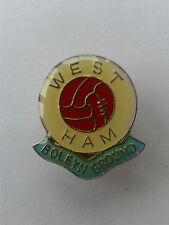 Vintage West Ham a tierra Gomm insignia de bola