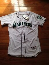 NWT Authentic Seattle Mariners Jersey Size 44 Majestic White Home