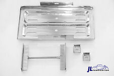 Polished Stainless Steel Universal Battery Tray Hold Down Kit