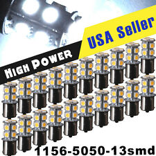 20 X White 1156 BA15S 13-SMD 5050 LED Light bulbs Turn Signal Backup Reverse 12V