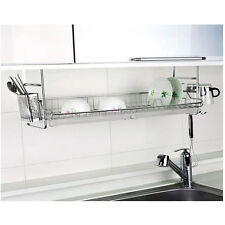 New Stainless Fixing Dish Drying Rack Single Shelf Sink Kitchen Organizer