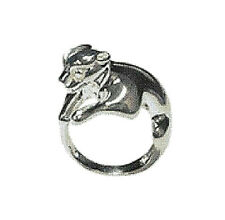 Baby Panther Ring Size 6 - 925 Sterling Silver Cat Kitty Womens Teens ccj SJ37