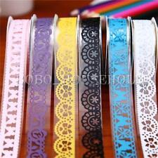 5 Rouleau ruban décoratif dentelle adhésif autocollant galon scrapbooking coloré