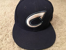 Bradley Zimmer Game Used Worn Columbus Clippers Hat - Cleveland Indians 2
