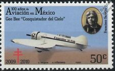GEE BEE Conquistador del Cielo Aircraft Stamp (100 Years of Aviation in Mexico)
