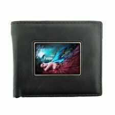 Black Bifold Leather Material Wallet Fairies Design 07 Celtic Mystical Creature