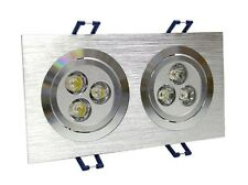6W LED Energy Saving Grid Giling Spotlight - Warm White By CS Power
