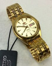 NEW Orient gold tone  Day Date Men's Automatic Watch  Orient Box Warranty