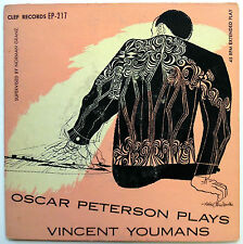 OSCAR PETERSON 45 EP Plays Vincent Youmans / Tea For Two VG++ Jazz Piano w2732