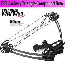 50lbs IRQ Archery Triangle Hunting Compound Bow Fiberglass Limbs Right Left Hand