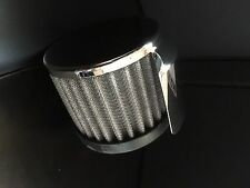 Chrome Push In Filter Breather With Shield Racing Oil Valve Cover Breather R9516