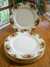 ROYAL ALBERT OLD COUNTRY ROSES SET (4) DINNER PLATES NEW