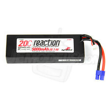 Reaction 7.4V 2S 5000mAh 20C Hardcase LiPo Battery Pack EC3 Connector DYN9004EC