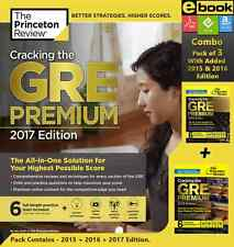 Cracking the GRE Premium 2017 + 2016 + 2015 Combo Edition [ebook] New