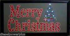 Merry Christmas tree led lighted sign home decor hanging color message display