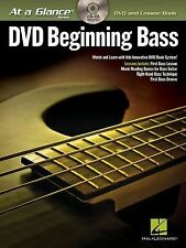 Beginning Bass At a Glance Learn How to Play Bass Guitar Lessons Book DVD NEW