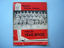 1958/59 WHL WESTERN HOCKEY LEAGUE YEARBOOK MEDIA GUIDE VANCOUVER CANUCKS PHOTO