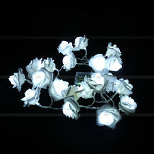 20 LEDs Christmas Romantic Wedding Flower Rose Fairy String Lights Lamp Bedroom
