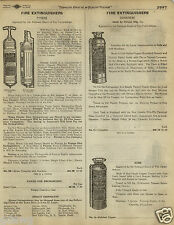 1923 PAPER AD Pyrene Guardene Acme Fire Extinguisher