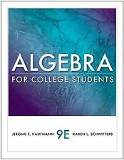 Available 2011 Titles Enhanced Web Assign Ser.: Algebra for College Students...
